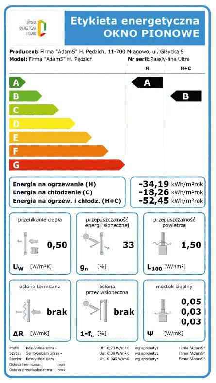 passiv line ultra etykieta energetyczna